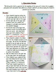 Math Journal: Operations Review