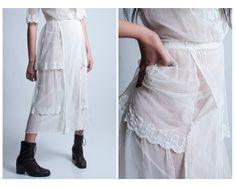 Vintage Edwardian White Lace Tea Dress by hushhushfashion on Etsy, $296.00
