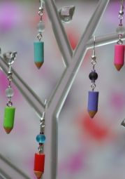 Artistic Crayon Earrings | Misi UK | Buy and Sell Handmade and Vintage Gifts | Craft Supplies | Patterns