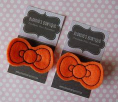 Halloween Hello Kitty Style Pigtail Bow Clips by BlondiesBowtique, $5.00