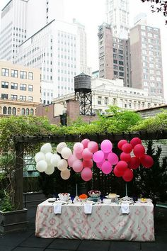 balloons (dessert table)
