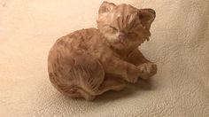 Gattino di sonno - scultura in legno