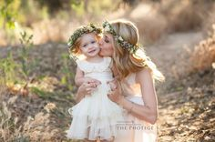 Flower crowns, mommy and me, bakersfield california, mother & daughter