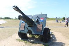Howitzer at the Canadian Memorial on Juno Beach