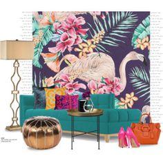 Flamingo club wallpaper...