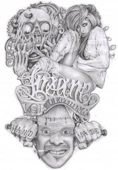 Tatuajes Tattoos, Chicano Tattoos, Body Art Tattoos, Tatoos, Skull Tattoos, Tattoo Design Drawings, Art Drawings, Bonnie And Clyde Tattoo, Dr Tattoo