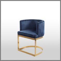 MILANI OCCASIONAL CHAIR IN NAVY VELVET