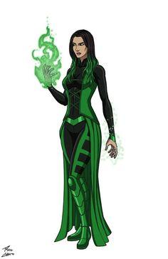 green superhero suit