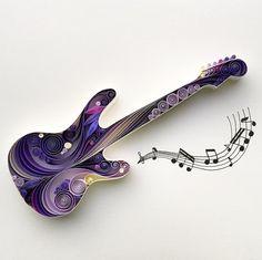 "Quilled Paper Art: ""Fender"""