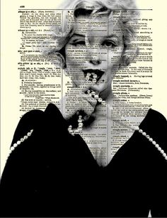 Marilyn Monroe with Pearls Art Print on by ReImaginationPrints