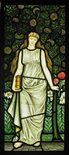 William Morris Four Seasons Windows by Thorskegga. From the Dining Room at Cragside House, Northumberland, England. via Flickr