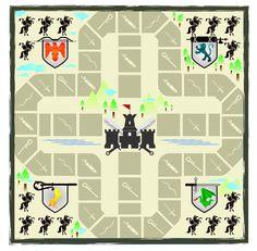* Ridderspel! Neem pionnen en een dobbelsteen en verzin met de kinderen zelf een spel en bedenk diverse spelregels!
