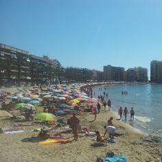 Playa del Cura en Torrevieja, Valencia