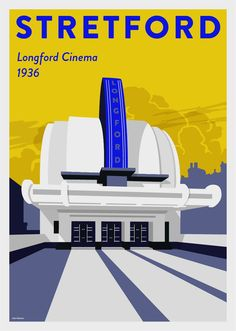 Poster of the iconic Longford Cinema in Stretford, Greater Manchester. 001 in the 'Iconic Manchester' poster series. Manchester Love, Manchester England, Old Pictures, Old Photos, Bolton England, Cinema Architecture, Vintage Travel Posters, Retro Posters, Poster Vintage