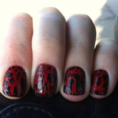 Red nails and shatter black!