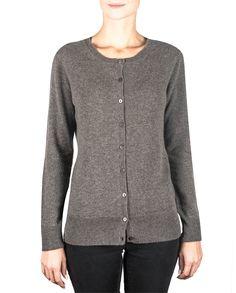 Damen Kaschmir Strickjacke Cardigan Rundhals taupe melange fornt Cardigan, Sweaters, Fashion, Cashmere Wool, Jackets, Cast On Knitting, Moda, Fashion Styles, Sweater