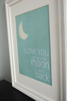 8x10 nursery print love you right up to the moon by mysweetswirls, $10.00