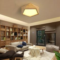 Modern LED Wood Ceiling Lights In geometric Shape lamparas de techo For Bedroom Balcony Corridor Kitchen Lighting Fixtures-in Ceiling Lights from Lights & Lighting on Aliexpress.com | Alibaba Group