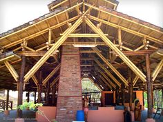 Bamboo Architecture at the PANACA Theme Park in Costa Rica.