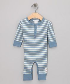 Blue Stripe Playsuit - Infant