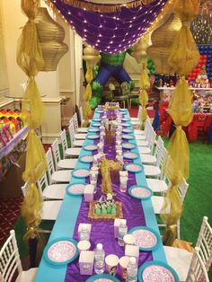 Prinzessin Jasmine Birthday Party Ideas – – DIY Home Decor Aladdin Birthday Party, Aladdin Party, Disney Princess Birthday, Birthday Party For Teens, 1st Birthday Girls, Birthday Ideas, Jasmin Party, Princess Jasmine Party, Arabian Party