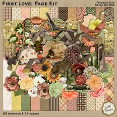 First Love: Page Kit  #thestudio #happymothersday #digitalscrapbooking
