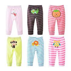 Newborn 4pcs/lot 0-24M Baby PP Pants Trousers Infant Cartoonfor Baby Boys Girls Pants Clothes