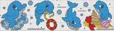 schema delfini punto croce
