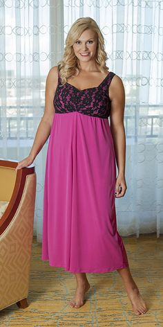 bb9d9e97c8 Soulevant s Truffle Pink Nightgown with built-in bra