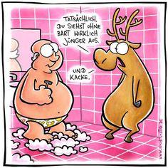 Weihnachten fällt aus! Der Bart ist ab! Der Bart ist ab *zack* und was soll ich sagen, das sieht kacke aus .. ohja .. mal ehrlich .. der Weihnachtsmann ohne Bart? Stellt Euch mal die Rentiere wie Pudel rasiert vor?!? Na, klingelts?!?