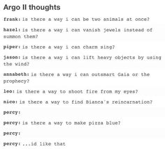 blue pizza, oh percy