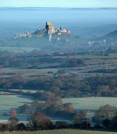 Corfe Castle, Dorset, South West England, UK    from Kingston by Tony Gill on Flickr