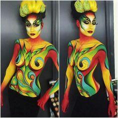 Gilliam adlı kullanıcının makeup panosundaki pin body painting, body art ve Body Art Photography, Belly Painting, Illusion Art, Men Hair, Arte Pop, Psychedelic Art, Woman Painting, Body Art Tattoos, Face And Body