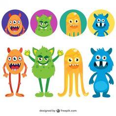 dibujos monstruos color - Buscar con Google