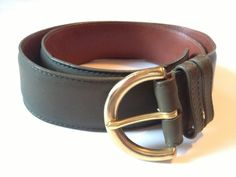 80s Vintage Coach Hunter Green Leather Belt // Small, $31