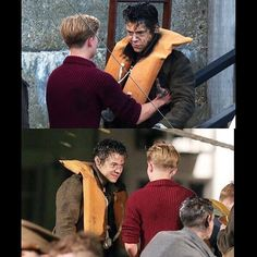 """Tom Glynn-Carney, one of Harry's co-actors (the guy in these photos), had his instagram post filled with comments from fans (most of them larries) about how he should stay away from Harry and stop flirting with him. Some part of the fandom has apologized to Tom, who accepted the apologies after the incident. He tweeted: """"Thanks for the apologies guys. You're all great. There's no need for anyone to be upset. Have a lovely day :)"""" This is so embarrassing and disrespectful. You all need to…"""