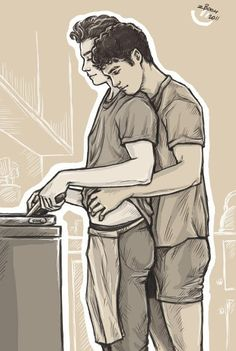morning by ~zephyrianBoom on deviantART Lgbt Couples, Cute Gay Couples, Couples In Love, Chris Colfer, Teen Wolf Ships, Gay Aesthetic, Gay Comics, Couple Drawings, Darren Criss