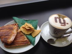 (135) Victoria Stevens popped into East Grinstead for a coffee and toasted croissant!