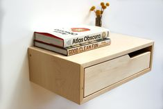 Modern Floating Furniture Design out of Portland OR. Focus on wall mounted floating nighstands, floating consoles, and floating drawers out of solid wood, walnut Diy Furniture Projects, Custom Furniture, Furniture Decor, Woodworking Projects, Diy Nightstand, Floating Nightstand, Nightstands, Floating Drawer, Double Headboard