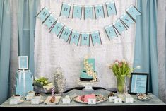Treat your mom to a TIFFANY & CO Mother's Day Party like this one! See more party ideas and share yours at CatchMyParty.com