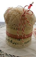 Tons of craft ideas with a vintage french look to many of them on this blog... you can look for hours.....