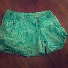Summer Turquoise Shorts! Cute shorts for the summer! Size 3, barely worn. Turquoise in color with buttoned detail on the sides! Red Camel Shorts Jean Shorts