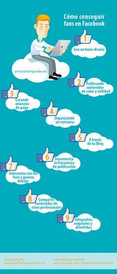 Cómo conseguir fans en FaceBook #infografia #infographic #socialmedia