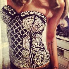 Image via We Heart It #silvercorset #fsdfds