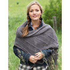 Chevron Shawl in Bernat Satin. Discover more Patterns by Bernat at LoveKnitting. The world's largest range of knitting supplies - we stock patterns, yarn, needles and books from all of your favorite brands.