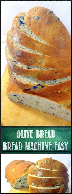 EASY Bread Machine 10 Minute KALAMATA OLIVE BREAD... Now when I say 10 minutes I mean ONLY 10 MINUTES OF WORK. The rest of the time the machine and nature does the work of mixing, kneading and rising. Baked in the oven, this will become a habit! DELICIOUS AND EASY!