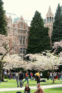 The University of Washington, Seattle. Kellan helps her register for classes and shows her around campus.