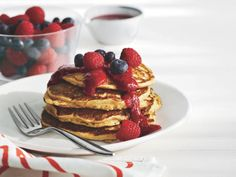 Whole Grain Pancakes http://www.prevention.com/food/cook/great-american-healthy-breakfast-recipes/whole-grain-pancakes