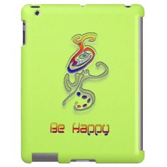 Be Happy Alien, Abstract iPad cover