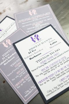 Double-Sided Wedding Welcome Letters / Wedding Itineraries